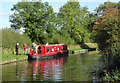 SJ9207 : Mooring south of Calf Heath, Staffordshire by Roger  Kidd