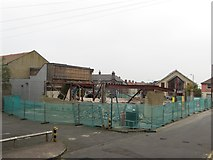 NT9953 : Demolition of former Kwik Save store, seen from Hatters Lane by Graham Robson