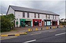 G4233 : Parade of shops, Fair Green, Dromore West, Co. Sligo by P L Chadwick