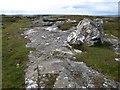 L6640 : Rock platform and erratic boulder by Jonathan Wilkins
