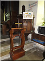 TM1957 : Lectern & Pulpit of St.Mary's Church by Adrian Cable