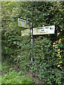 TM1861 : Roadsign on Church Lane by Adrian Cable
