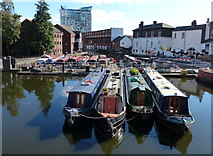 SP0686 : Narrowboats moored in the Gas Street Basin by Mat Fascione