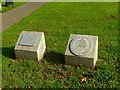 SK5978 : Commemorative plaques, Bracebridge Recreation Field by Alan Murray-Rust