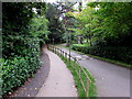 SP2864 : Warwick Castle grounds footpath and road by Jaggery