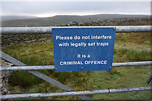 NY7340 : Sign on the Pennine Way at Black Band by Ian S
