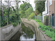 TQ2992 : Pymme's Brook west of Wilmer Way, N14 (2) by Mike Quinn