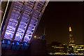 TQ3380 : Going through Tower Bridge on the River Thames at Night by Christine Matthews