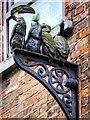 SJ8498 : Ceramic Birds in John Street (3) by David Dixon
