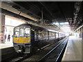 SJ8499 : Manchester Victoria station: former Thameslink train by Stephen Craven