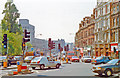 TQ2475 : Traffic tangle by Putney Bridge, 1990 by Ben Brooksbank