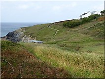 SW6618 : Meres Cliff above Polurrian Cove by David Smith