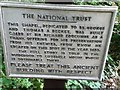 SX4268 : National Trust sign for chapel in the woods by Paul Barnett