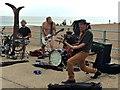 TQ3303 : Busking band by David Lally
