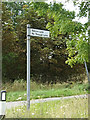 TM1661 : Roadsign on the B1077 Debenham Road by Adrian Cable