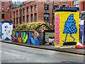 SJ8498 : Street Art on the Former Public Toilets, Stevenson Square by David Dixon