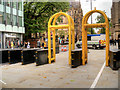 SJ8397 : Security Barriers on Mount Street by David Dixon