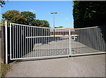 ST0107 : Cullompton: gated entrance to Plymouth Brethren chapel by Martin Bodman