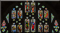 SO8454 : Stained glass window, Cloisters, Worcester Cathedral by Julian P Guffogg