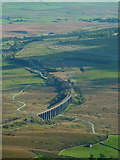 SD7579 : Ribblehead Viaduct from the top of Whernside by Karl and Ali