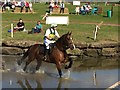 SJ5567 : Kelsall Hill Horse Trials: water obstacle by Jonathan Hutchins