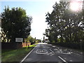TM1160 : Entering Stonham Parva on the A140 Norwich Road by Adrian Cable