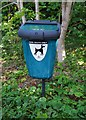 SO9062 : Dog waste bin by public footpath, Droitwich Spa, Worcs by P L Chadwick