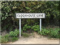 TM1160 : Clockhouse Lane sign by Adrian Cable