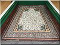 SN5881 : Mosaic floor at entrance to café, 20 Terrace Road, Aberystwyth by Robin Stott