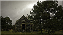 NJ3826 : Old School at Cabrach by Peter Moore