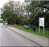 SW7834 : Bench, bin and notice board, Penryn by Jaggery