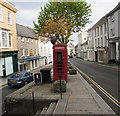 SW7834 : Grade II listed phonebox in Penryn town centre by Jaggery