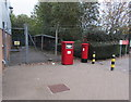 ST3188 : Red boxes outside Newport Delivery Office by Jaggery