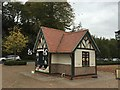 SJ4034 : Ellesmere: ice-cream kiosk next to the Mere by Jonathan Hutchins