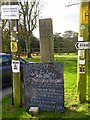 SW7329 : Old milestone and signpost in Constantine by David Smith