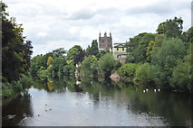 SO5139 : The view from Victoria Bridge by John Winder