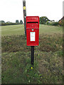TM0214 : Blue Row Postbox by Adrian Cable