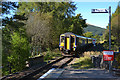 NN3330 : Train to Fort William and Mallaig leaves Tyndrum Upper station by Nigel Brown