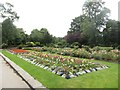 SE2935 : Formal beds in Woodhouse Moor Park, Leeds by Graham Robson