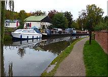 SK1705 : Narrowboats moored along the Birmingham & Fazeley Canal by Mat Fascione