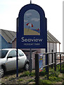 TM0212 : Seaview Holiday Park sign by Adrian Cable