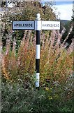 SD3398 : Signpost at Tenter Hill by Philip Halling