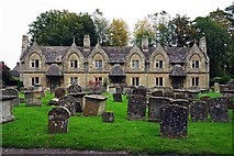 SP3509 : Almshouses, Church Green, Witney, Oxon by P L Chadwick