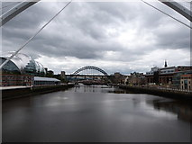 NZ2563 : Seven bridges on the Tyne by Oliver Mills