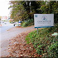 SO8405 : Clockhouse name sign, Stroud by Jaggery