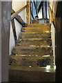 SO8932 : 15th Century staircase, Merchant's House, Tewkesbury by David Hawgood