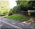 SO8403 : Parish of Rodborough boundary sign facing Woodchester by Jaggery