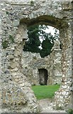 TQ4109 : St Pancras Priory, Lewes - A view through the walls by Rob Farrow