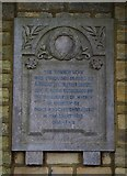 SP3509 : Plaque in The Leys, Witney, Oxon by P L Chadwick