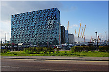 TQ3979 : Buildings by the O2 Arena by Bill Boaden
